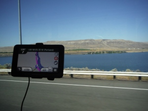 GPS on Bus Window to Oregon