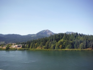 View of Washington from across the river in Oregon