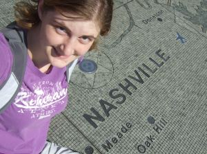 Walking can bring many unexpected surprises, like this large, walk-able map of Tennessee in Nashville!