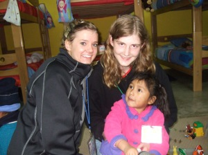 Playing with kids at the Posada de Amor orphanage in Cieneguilla, Peru