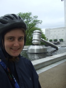 Going on a bike ride around Columbus, Ohio happened to bring me to the World's Largest Gavel!