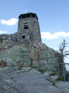 This building is at the very top of Harney's Peak and it was a strenuous four-mile journey to get there