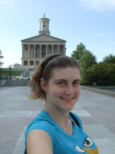 In front of the Tennessee Capitol Building in Nashville