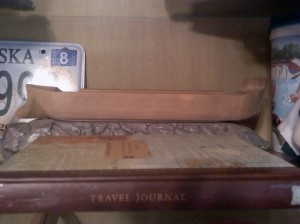 Travel Memento Shelf