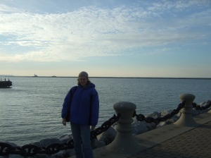 My first time seeing a Great Lake- Lake Erie in Cleveland!