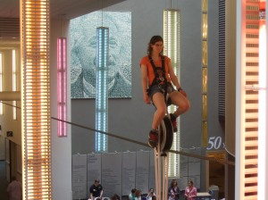 At the science museum, I got to ride a self-balancing unicycle that was two stories high!