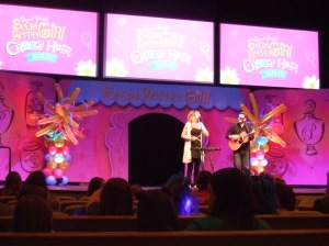 Copperlily performing on the Secret Keeper Girl tour.