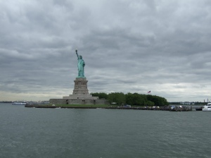My experience at the Atlantic Ocean involved seeing the Statue of Liberty!