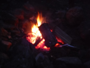 Fire was our only source of heat on this trip, so it brought us together on so many levels!