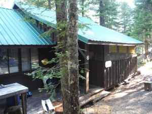 Our humble abode for two nights: no electricity, plumbing, or cell service!
