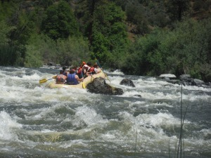 One of our rafts on the Klamath River.