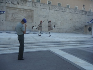 Greece Tomb of the Unknown Soldier Guards Athens
