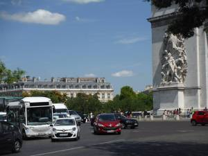 I hard roundabout to get around: The Arc de Triomphe has twelve different streets shooting out from it!