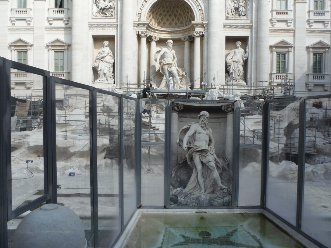 Trevi Fountain Restoration, Rome, Italy