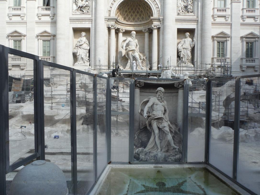 Trevi Fountain Restoration, Rome, Italy