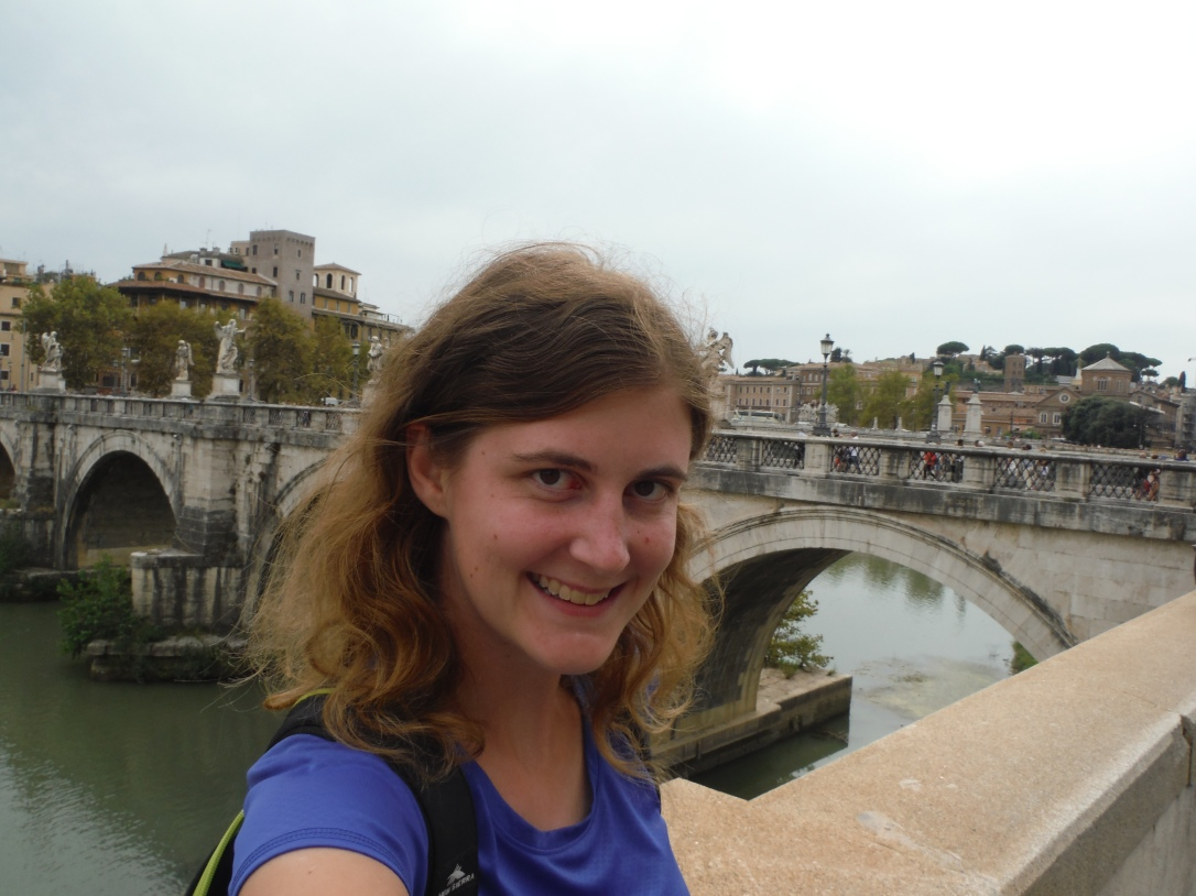 Walking by Tiber River, Rome, Italy
